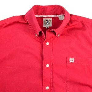 CINCH Red Western Shirt Size Medium